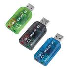 Внешняя USB 2.0 звуковая карта, 5.1 канальный звук, 3D