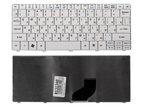 Клавиатура для нетбука Acer Aspire One 532 D260 E350 One Happy N55 Pav80, белая, PK130AE1A00