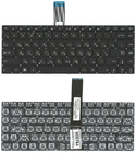 Клавиатура для ноутбука Asus UX серий, черная, без рамки, 0KNB0-MF1UI13