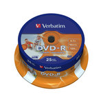 Диск DVD-R Verbatim 4.7Gb 16x Printable
