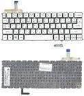Клавиатура для ноутбука Acer Aspire S7, S7-191, серебристая, с подсветкой, без рамки, MP-12A53U4J442