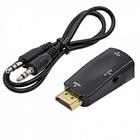 Переходник HDMI (M) - VGA (F) + jack 3,5